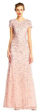 Adrianna Papell Scoop Back Sequin Gown.