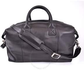 Royce Leather Royce Euro Traveler Petite Luxury Overnighter Handcrafted Leather Duffle Bag Luggage - Black