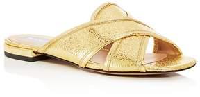 Marc Jacobs Women's Aurora Leather Crisscross Slide Sandals
