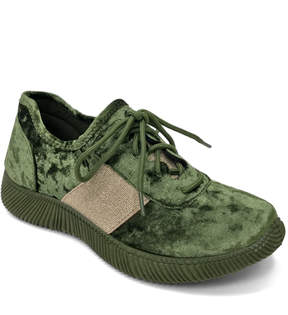 Bamboo Green Velvet Forward Sneaker
