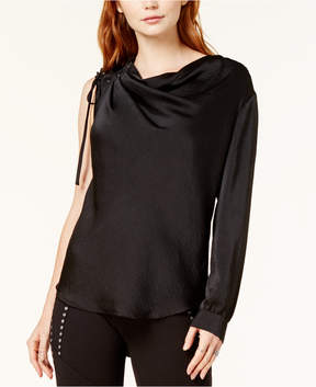 Bar III One-Shoulder Cowl-Neck Top, Created for Macy's