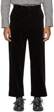 Junya Watanabe Black Corduroy Trousers