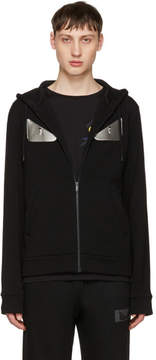 Fendi Black Bag Bugs Zip Hoodie