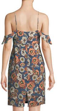 Astr Cold-Shoulder V-Neck Cami Dress