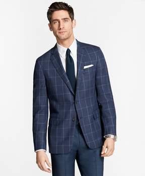 Brooks Brothers Regent Fit Hopsack Windowpane Sport Coat