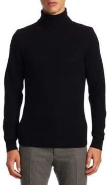 Ralph Lauren Purple Label Cashmere Textured Turtleneck Sweater