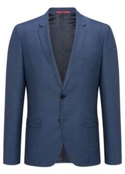 HUGO Boss Gingham Wool Sport Coat, Extra Slim Fit Arti 36R Open Blue
