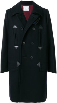 Sacai Melton double breasted coat