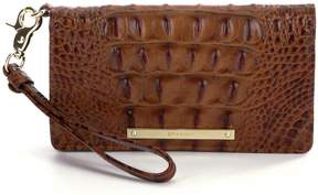 Brahmin Toasted Almond Collection Debra Embossed Wristlet