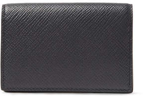 Smythson Panama Cross-Grain Leather Bifold Cardholder