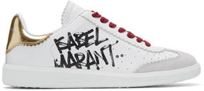 Isabel Marant White Bryce Street Tag Sneakers
