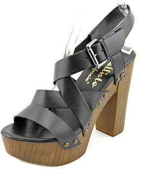 Callisto Westlye Women Open Toe Synthetic Black Platform Sandal.