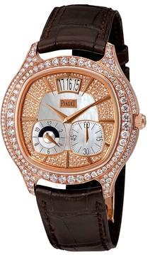 Piaget Emperador Mother of Pearl 18kt Rose Gold Diamond Men's Watch
