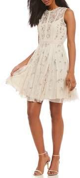 Chelsea & Violet Sleeveless Short Beaded Dress