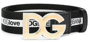 Dolce & Gabbana Dolce E Gabbana Men's White/black Cotton Belt.