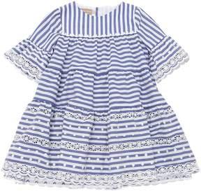 La Stupenderia Striped Cotton Blend Dress