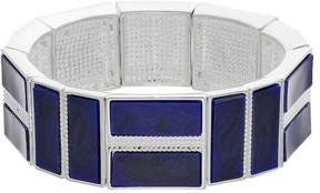 Chaps Blue Rectangular Stretch Bracelet