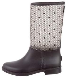 RED Valentino Star Embellished Rain Boots