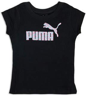Puma Black & Pink 'Puma' Tee - Toddler
