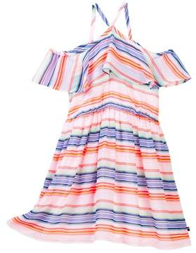 Tommy Hilfiger Printed Multi-Stripe Dress (Big Girls)