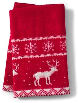 Lands' End Lands'end Holiday Pattern Throw