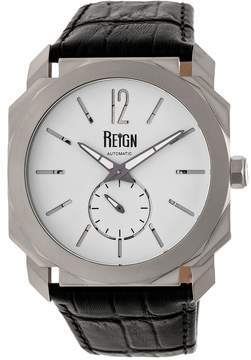 Reign Men's Maximus Automatic Leather Watch, 44mm