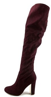 Material Girl Priyanka Women Round Toe Canvas Over The Knee Boot.