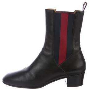 Gucci Web Chelsea Boots