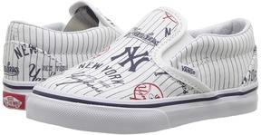 Vans Kids Classic Slip-On x MLB New York/Yankees/White) Kids Shoes