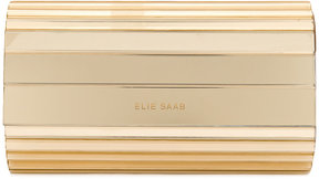 Elie Saab metallic clutch