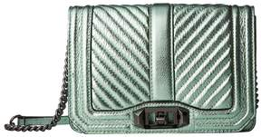 Rebecca Minkoff Chevron Quilted Small Love Crossbody Cross Body Handbags - MINT - STYLE