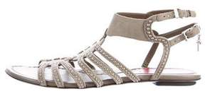 Cesare Paciotti Embellished Caged Sandals