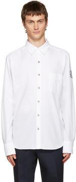 Moncler Gamme Bleu White Button-Down Shirt