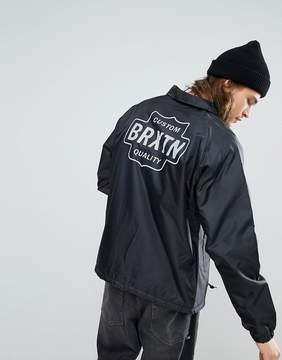 Brixton Garth Coach Jacket With Sherpa Lining