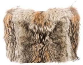 Celine Fur Foldover Clutch