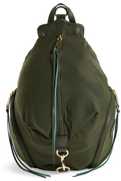 Rebecca Minkoff Julian Nylon Backpack - Green - BLACK - STYLE