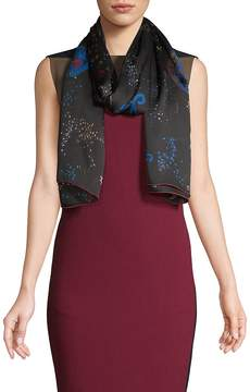 Valentino Women's Space-Print Silk Stole