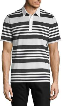 AG Adriano Goldschmied Men's Short-Sleeve Striped Polo