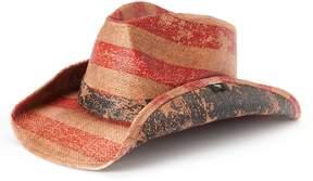 Peter Grimm Women's Patriot American Flag Straw Cowboy Hat