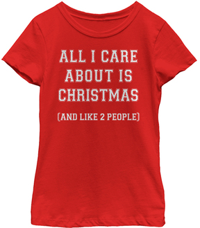 Fifth Sun Red 'All I Care About' Tee - Girls