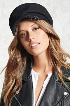 Forever 21 Pierced Felt Cabby Hat