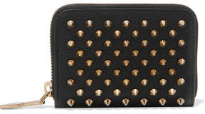 Christian Louboutin Panettone Spiked Textured-leather Wallet - Black