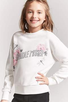 Forever 21 Girls Trouble Maker Sweatshirt (Kids)
