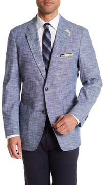 Kroon Bono Blue Two Button Notch Lapel Jacket