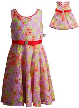 Dollie & Me Girls 4-14 Floral Overlay Dress Set