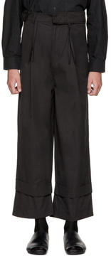 Craig Green Black Workwear Fisherman Trousers