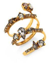 Erickson Beamon Double Coil Crystal Ring