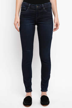 Blank Paradise Dark Mid-Rise Skinny Jeans