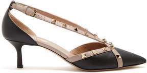 Valentino Rockstud cross-strap leather pumps