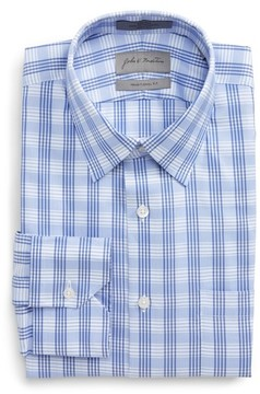 John W. Nordstrom Men's Traditional Fit No-Iron Check Dress Shirt